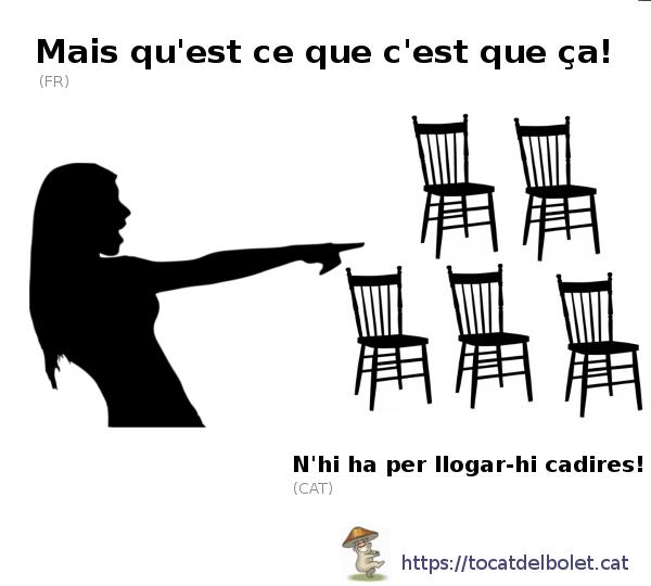 n'hi ha per llogar-hi cadires en francès