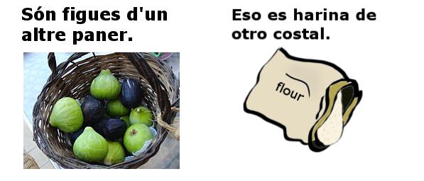 figues d'un altre paner en espanyol