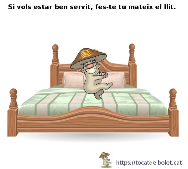 Si vols estar ben servit, fes-te tu mateix el llit