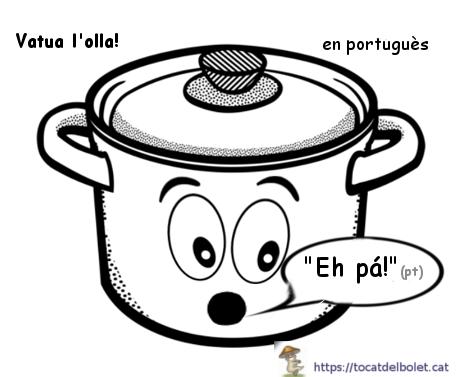 Vatua l'olla en portuguès = eh pá!