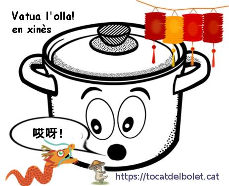 vatua l'olla en xinès = 哎呀 (tiān nǎ, āiyā)