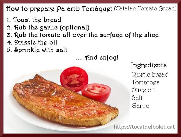 Catalan tomato bread ~Explicació en anglès