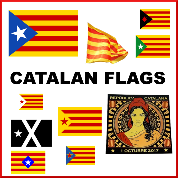 Catalan flags Catalan Catalonia independence flags Catalunya