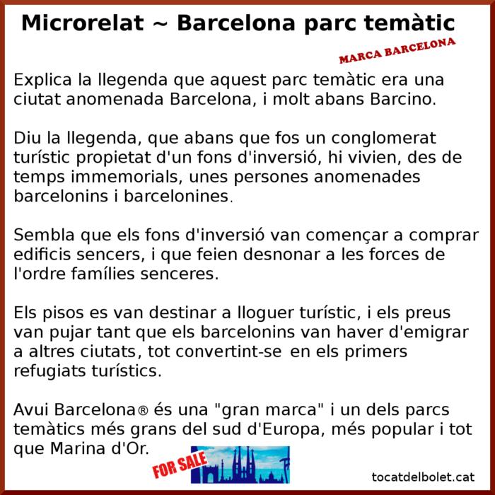 Microrelat en català Barcelona relat breu en català Barcelona minirelat en català+ microhistoria en català marca barcelona