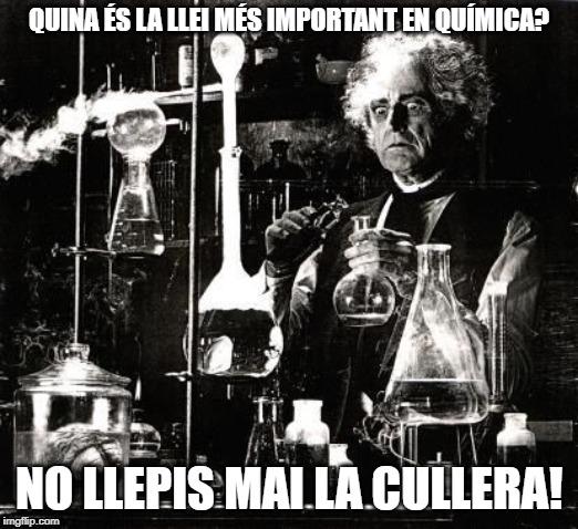 mem quiímica meme humor acudits catalunya català