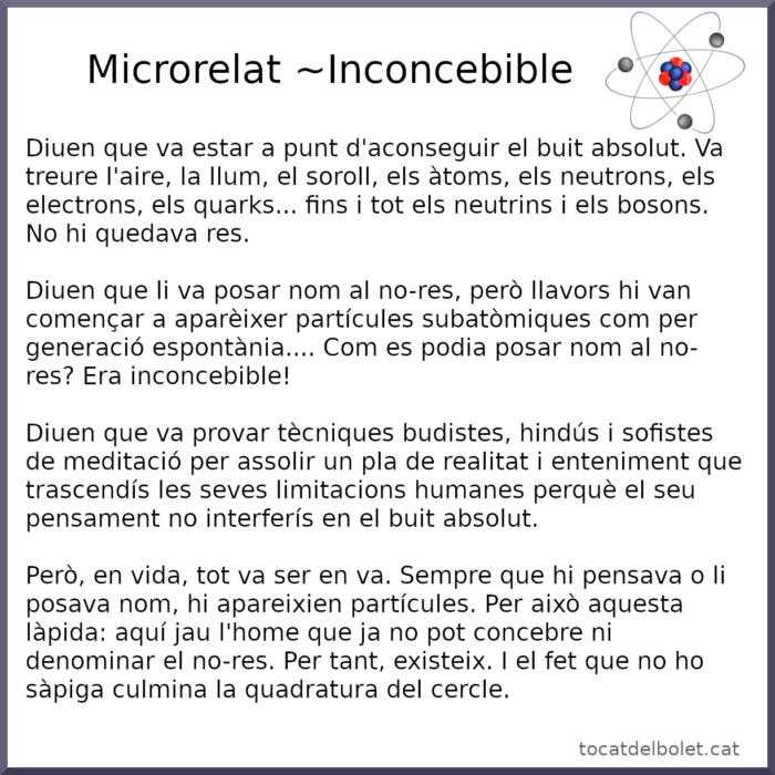 microrelat, conte breu, relat breu, contes en català,contes per a adults en català, inconcebible, relats científics