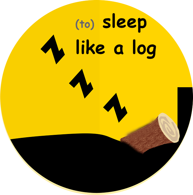 (to) sleep like a log