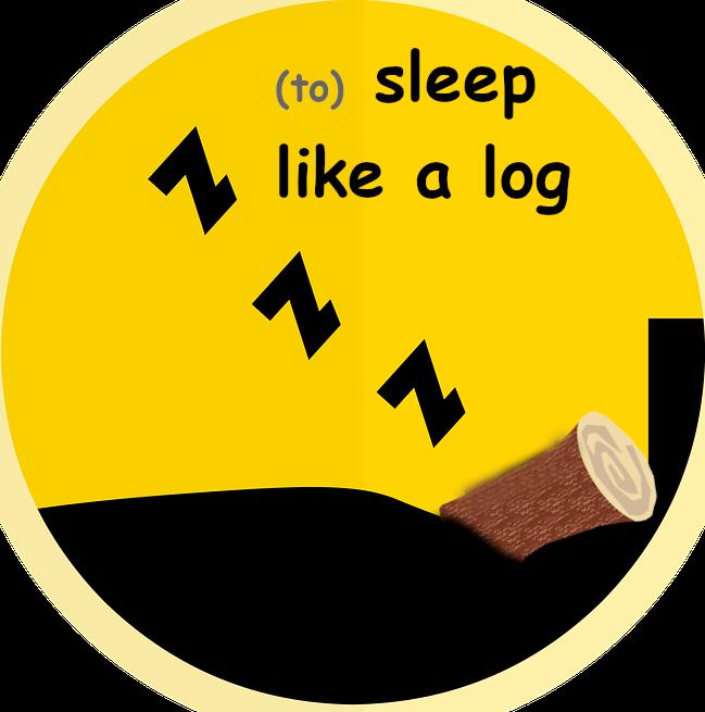 Dormir com un tronc en anglès
