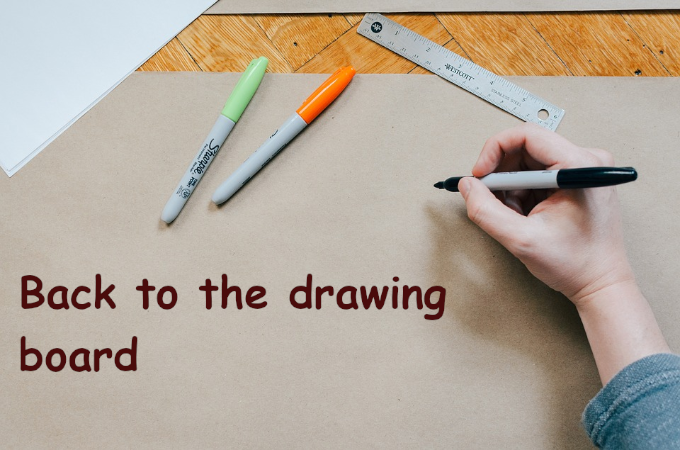 back to the drawing board in other languages  idioms