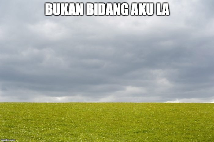 Bukan bidang aku la It's not my field in Malay