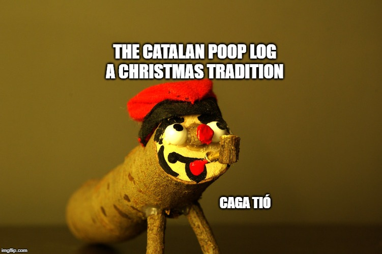 The Christmas poop log