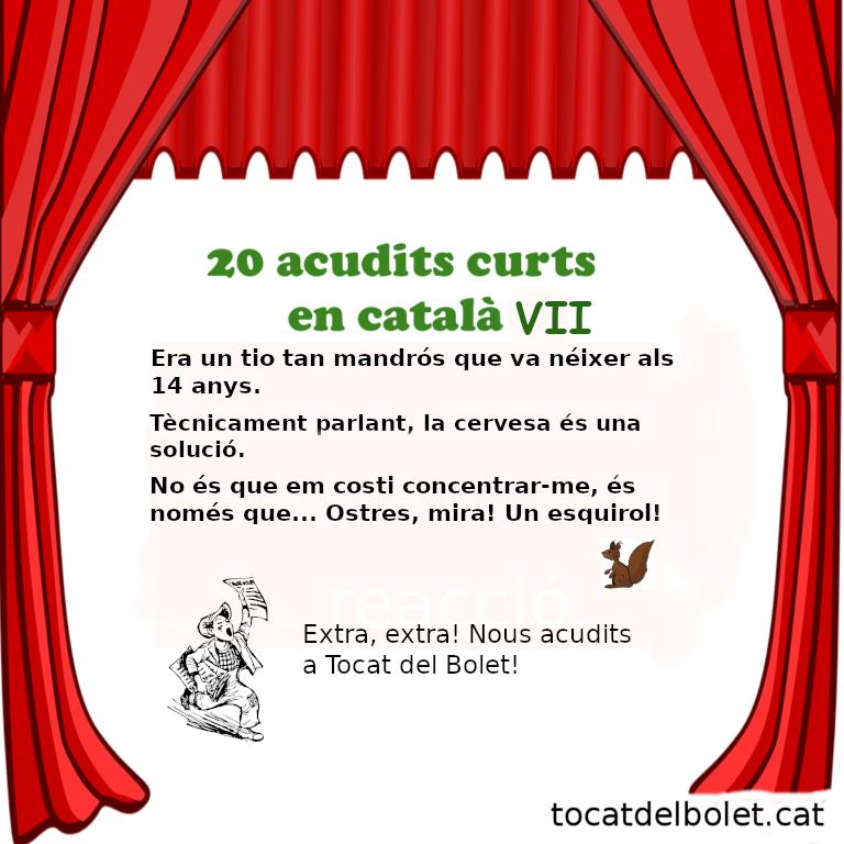 20 acudits curts en català Setena Part