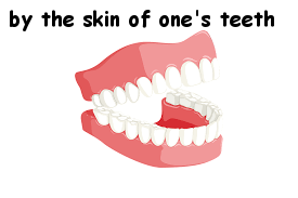 by the skin of my teeth in other languages idioms