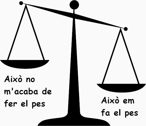 Fer el pes No fer el pes expressions catalanes