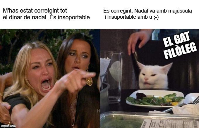 mem meme el gat filòleg Nadal humor
