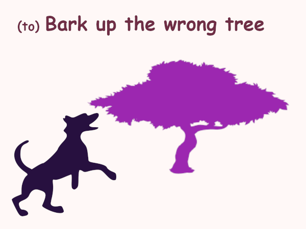 to bark up the wrong tree in other languages idioms