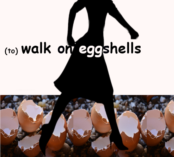 to walk on eggshells in other languages idioms typical expressions English language English idioms in Catalan English idioms in Spanish English idioms in French English idioms in German English idioms in Italian English idioms in Portuguese