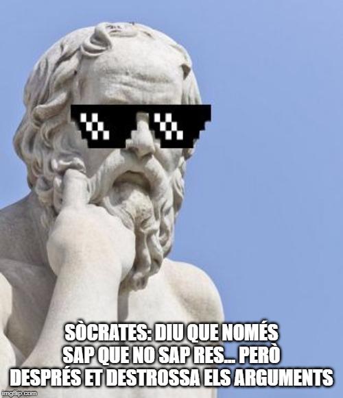 Sòcrates acudit català mem filosofia