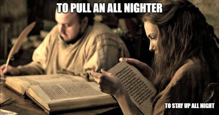 to pull an all nighter British Slang British English colloquial expressions