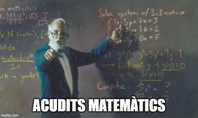 Acudits matemàtics
