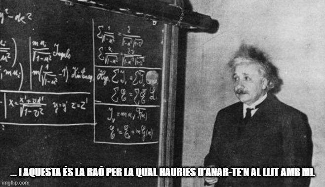acudit Einstein mems matemàtics humor matemàtic acudits sobre matemàtiques en català acudits matemàtics xistes matemàtics  chistes matemàtiques