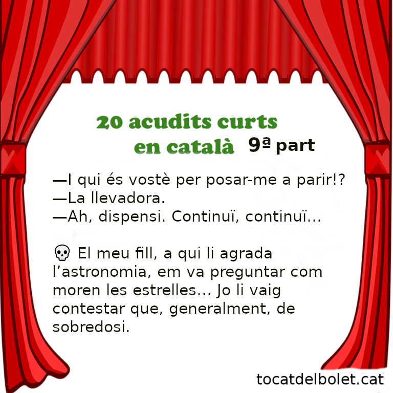 20 acudits curts Novena part