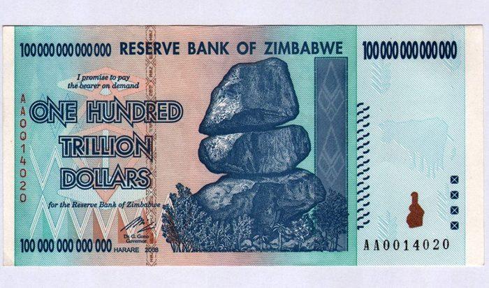 bitllet Zimbàbue devaluat