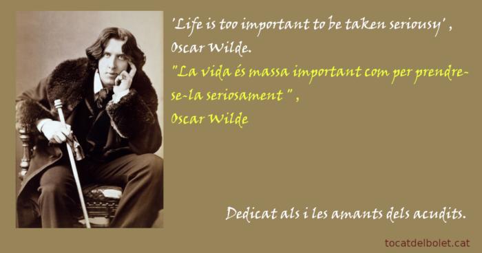 acudits humor Oscar Wilde