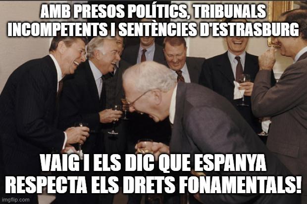 Acudit drets fonamentals Espanya