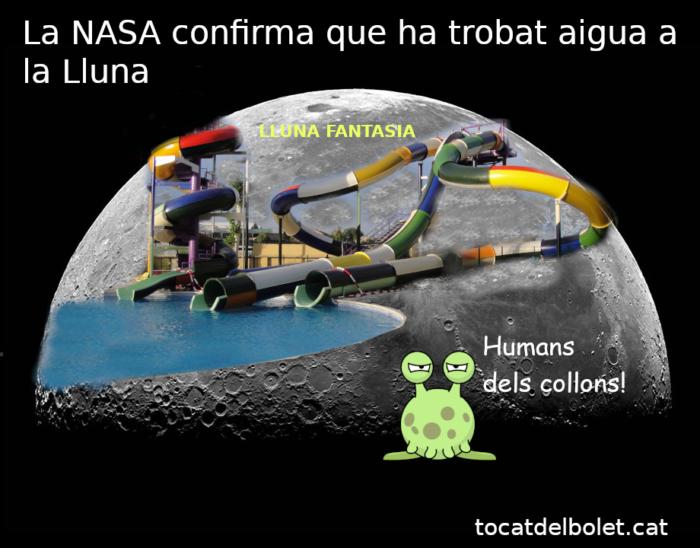 acudit  La NASA confirma que ha trobat aigua a la Lluna aigua humor català