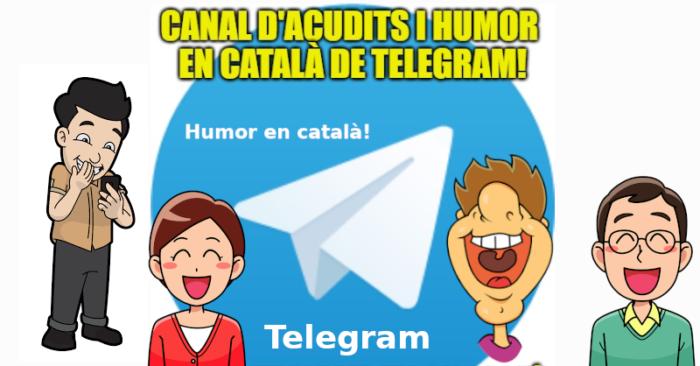 Canal d'acudits en català a Telegram