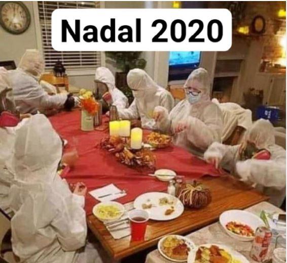 acudit nadal 2020 pandèmia coronavirus humor dinar de nadal sopar