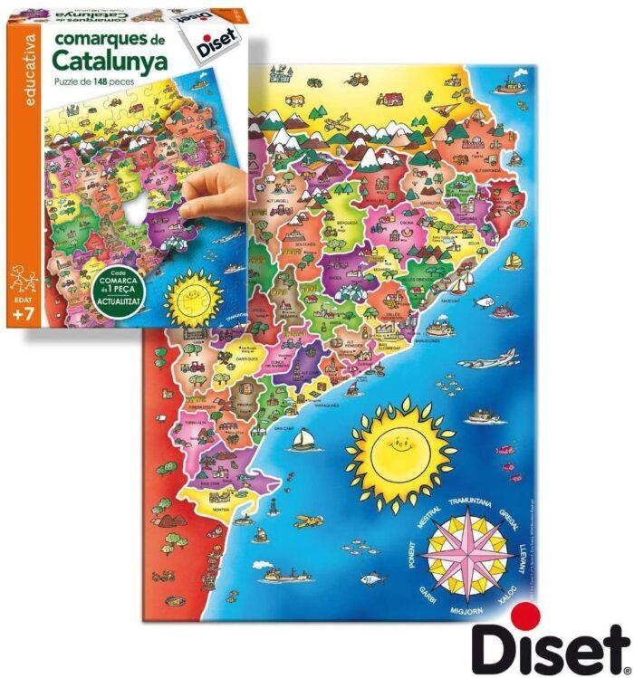 puzzle comarques de Catalunya trencaclosques joguet