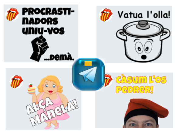 Stickers de Telegram en català