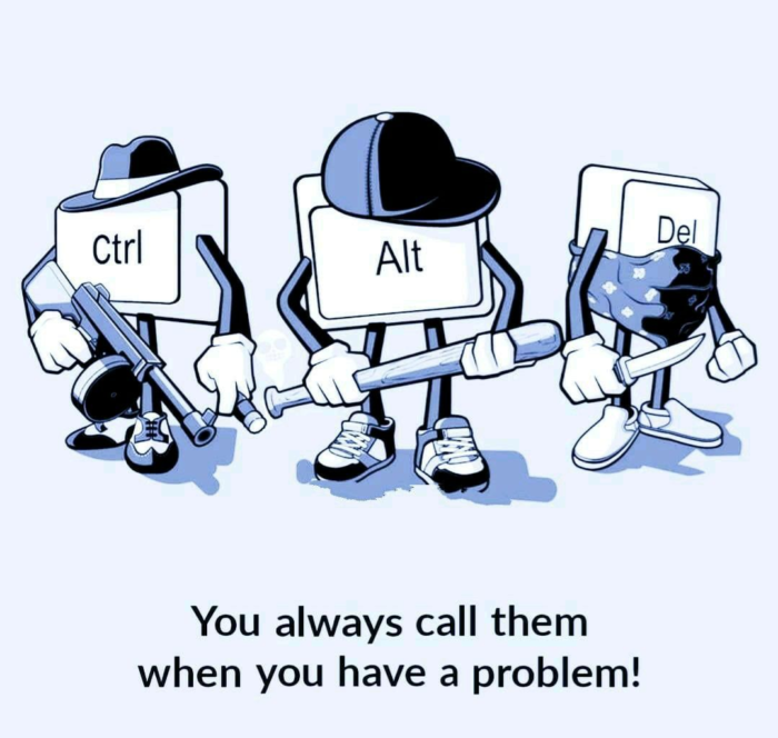 acudits informàtica humor acudits sobre informàtica acudits sobre programació programadors windows Lynux telegram codi laptop PC Apple IOS Android Ctrl ALt Del Suprimir