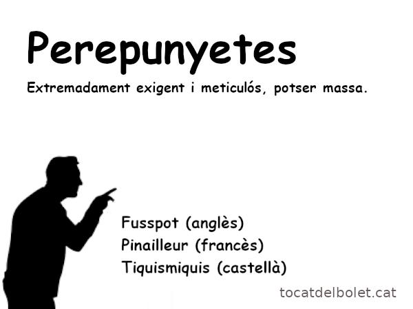 perepunyetes en anglès perepunyetes en  francès perepunyetes en castellà perepunyetes en espanyol expressions catalanes